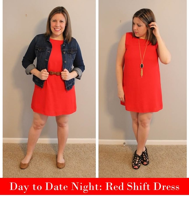 Day to Date Night- Red Shift Dress