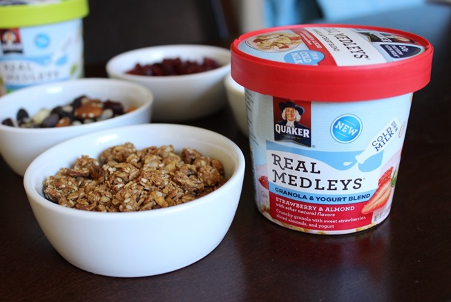 Easy Breakfast with Quaker Real Medley Yogurt Cups