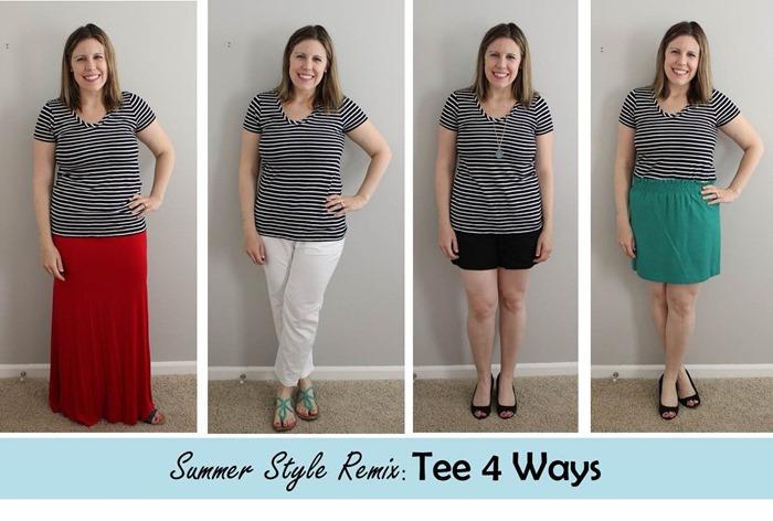 Summer Style Remix- Tee 4 Ways