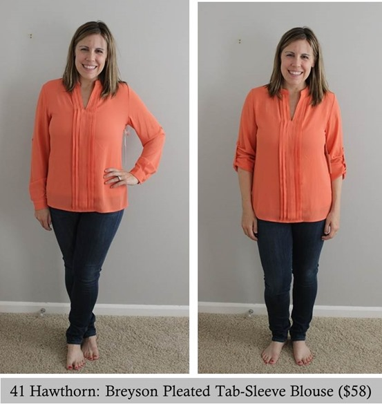 41 Hawthorn- Breyson Pleated Tab-Sleeve Blouse, Stitch Fix