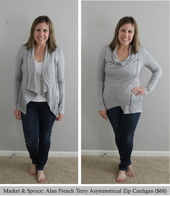 Market Spruce- Alan French Terry Asymmetrical Zip Cardigan, Stitch Fix