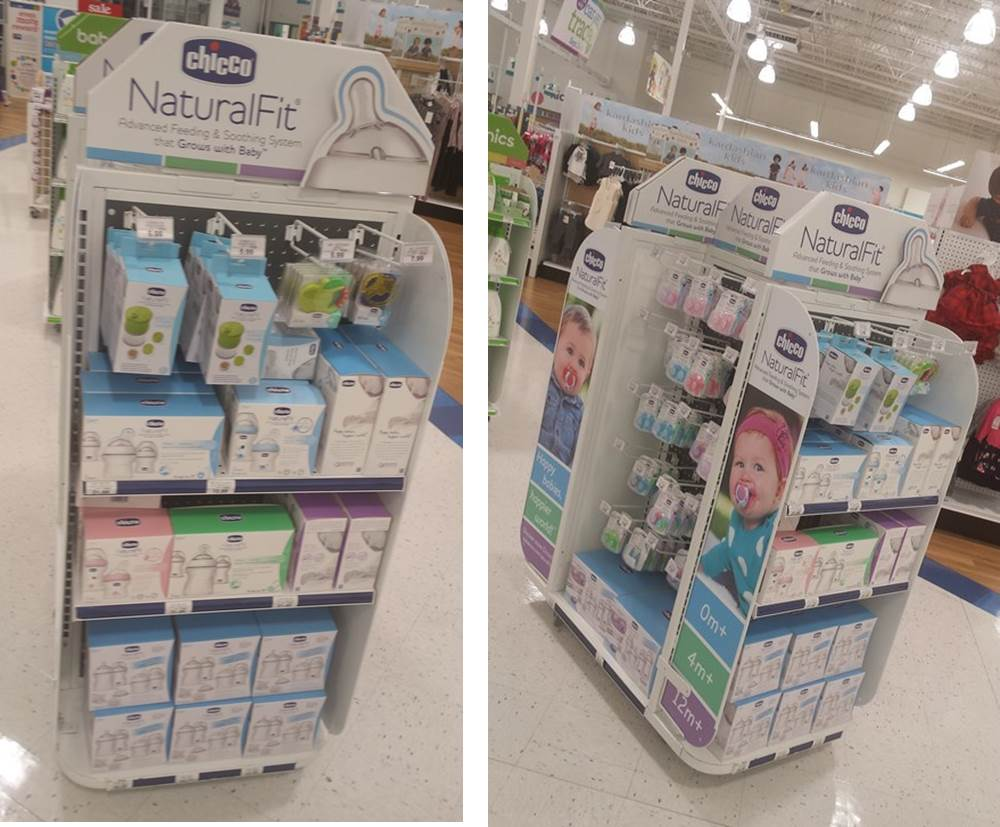 Chicco Natural Fit display