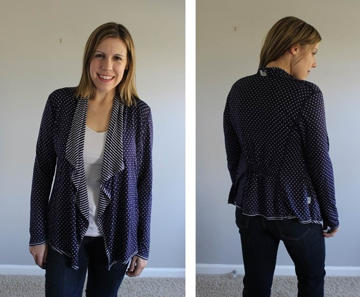 Stitch Fix Market and Spruce Margerie Stripe and Dot Open Cardigan 2
