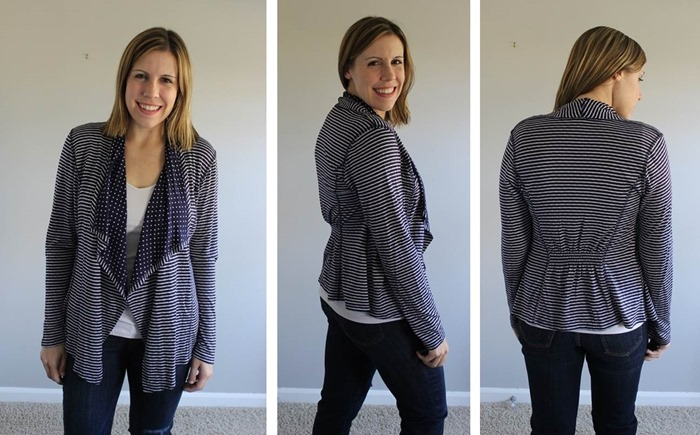 Stitch Fix Market and Spruce Margerie Stripe and Dot Open Cardigan