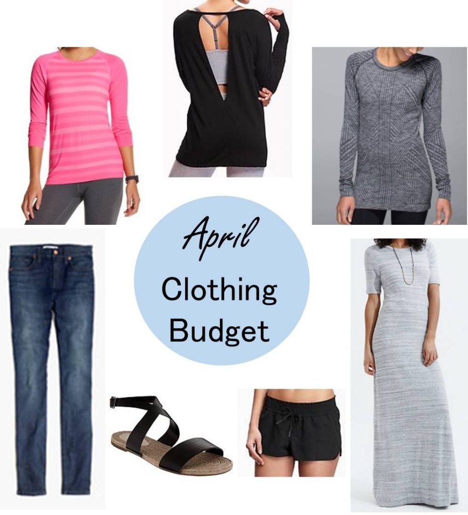April clothing budget