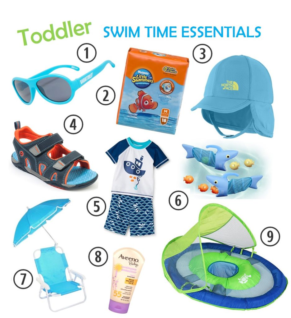 toddler swim time essentials