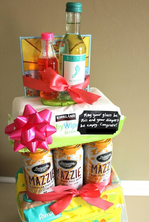 DIY baby tiered tower cake