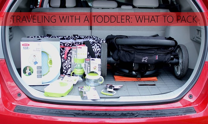 Traveling with a toddler, what to pack