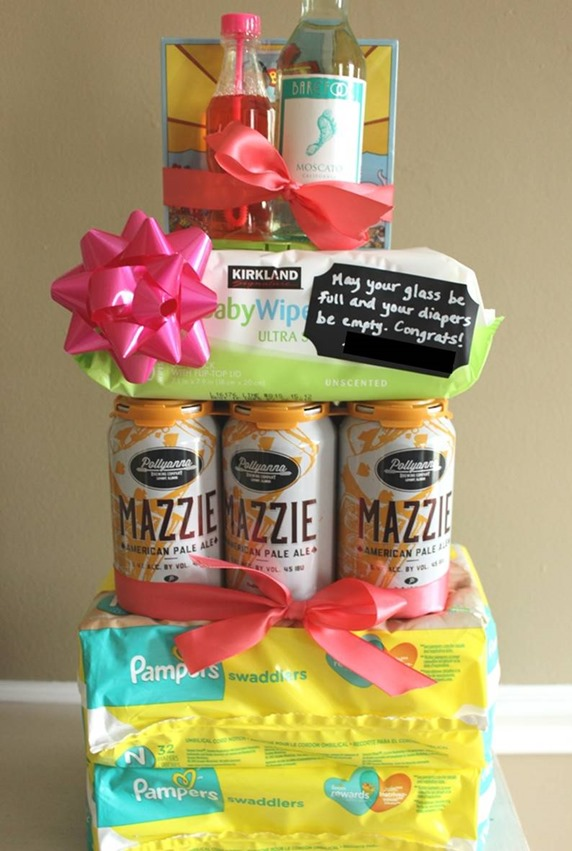 diy diaper beer cake tower