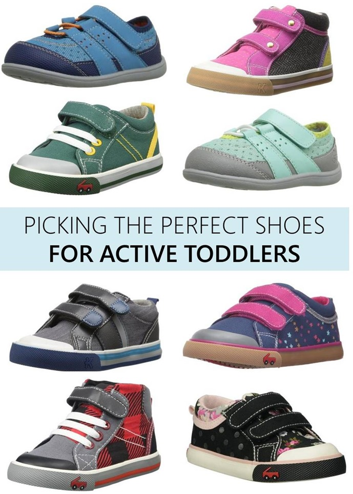 picking the perfect shoes for active toddlers