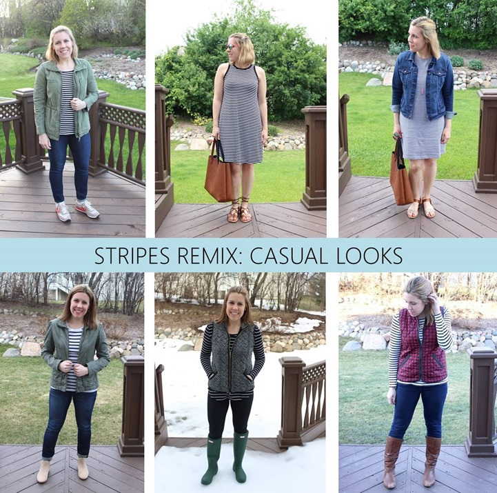 stripes remix casual looks