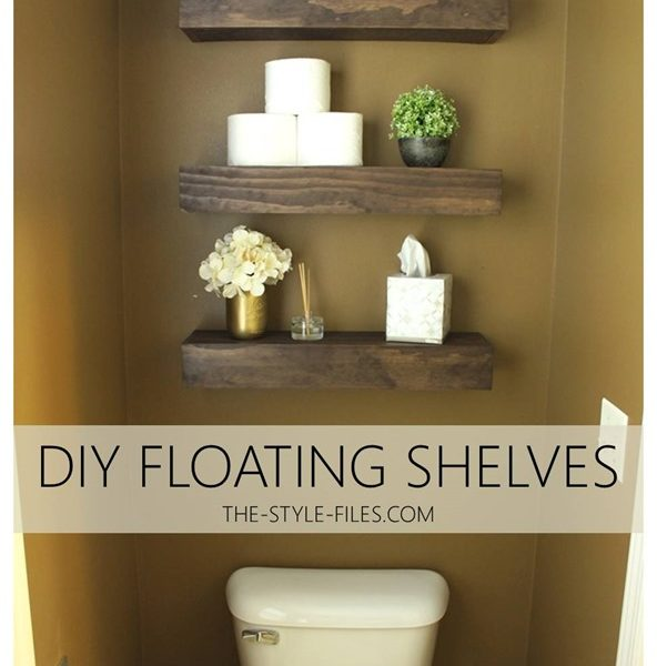 DIY Floating Bathroom Shelves // Or A Creative Way to Store that TP…
