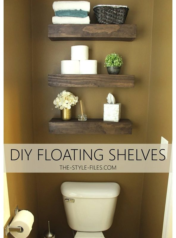 diy floating bathroom shelves // or a creative way to store that tp… - the style files