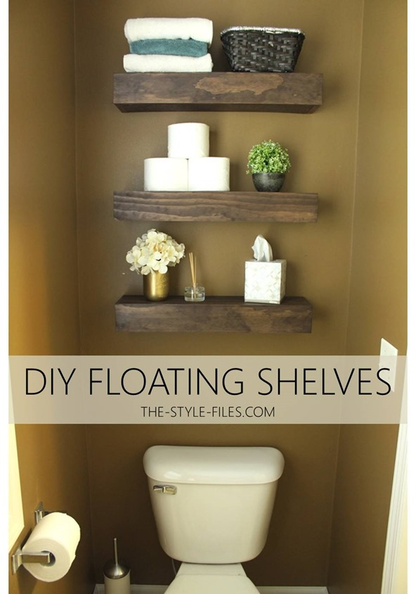 DIY Floating Bathroom Shelves // Or A Creative Way To Store That TPu2026