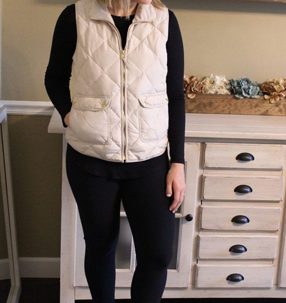 Mom Style #36 // The J.Crew Puffer Vest Copycat for Under $25