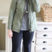 mom style cargo jacket leggings boots