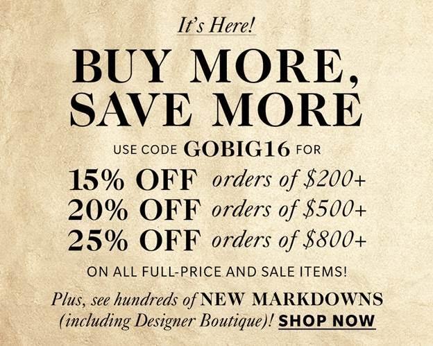 shopbop fall sale nov 2016 buy more save more
