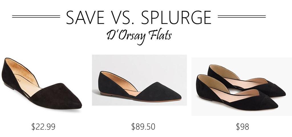 Save vs. Splurge // D'Orsay Flats