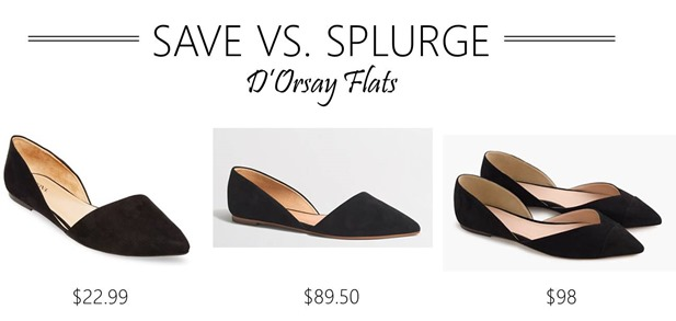 save vs splurge d'orsay flats