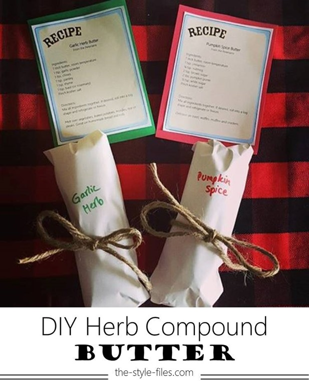 Holiday Gift Idea // DIY Herb Compound Butter - The Style Files