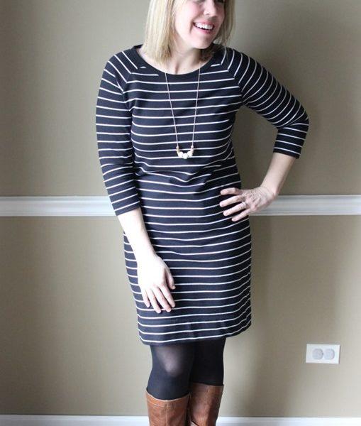 Mom Style #39 // Striped Dress + Cognac