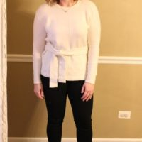 holiday outfit, classic ivory and black