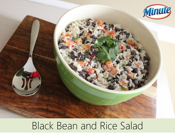black bean and rice salad, minute rice