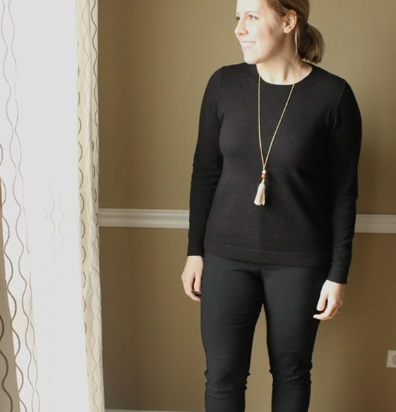 My Minimalism Style: Adding Warmth to a Black Outfit