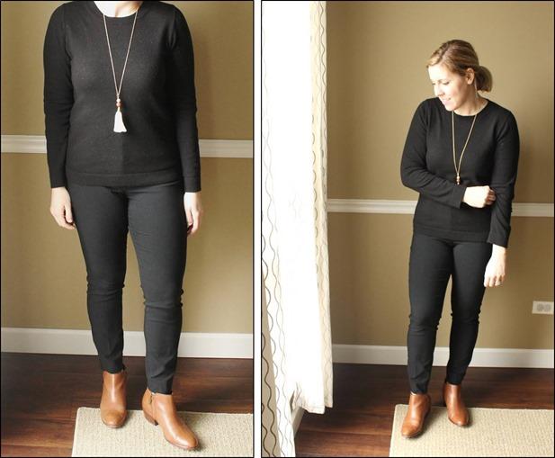 minimalism style, black, cognac