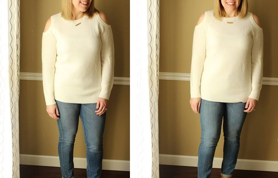 My Minimalism Style: Cut-Out Sweater for Spring