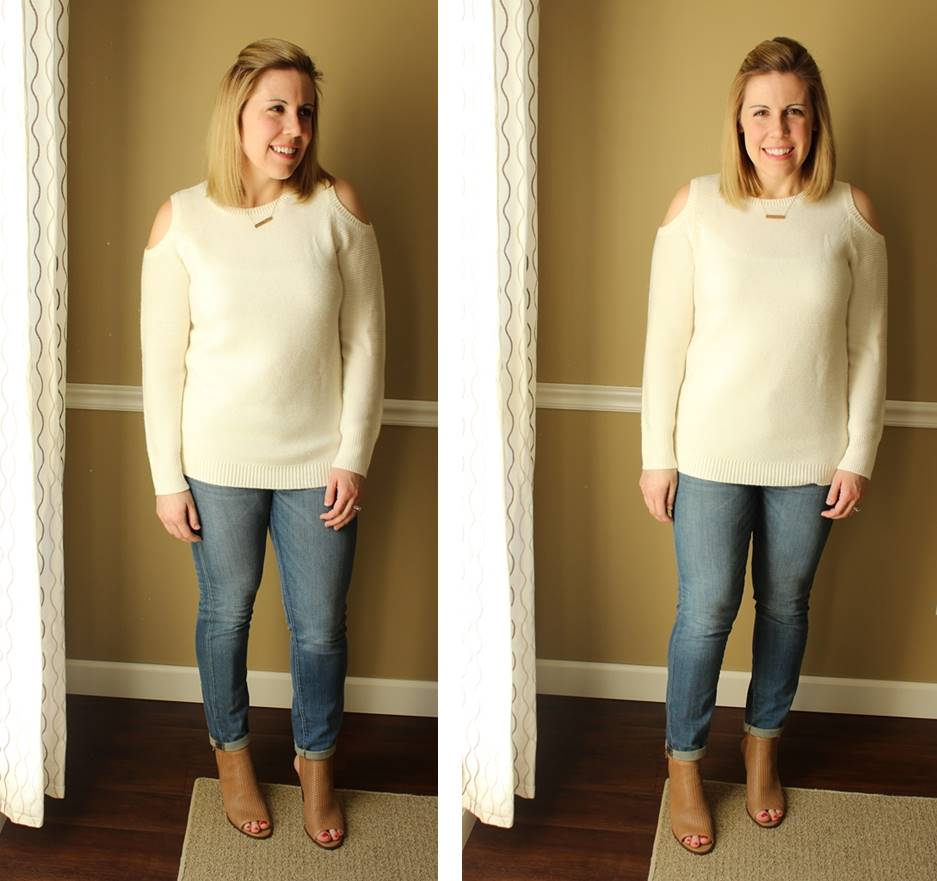 cutout sweater for spring