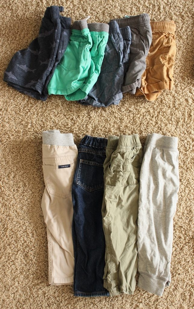 toddler boy capsule wardrobe bottoms