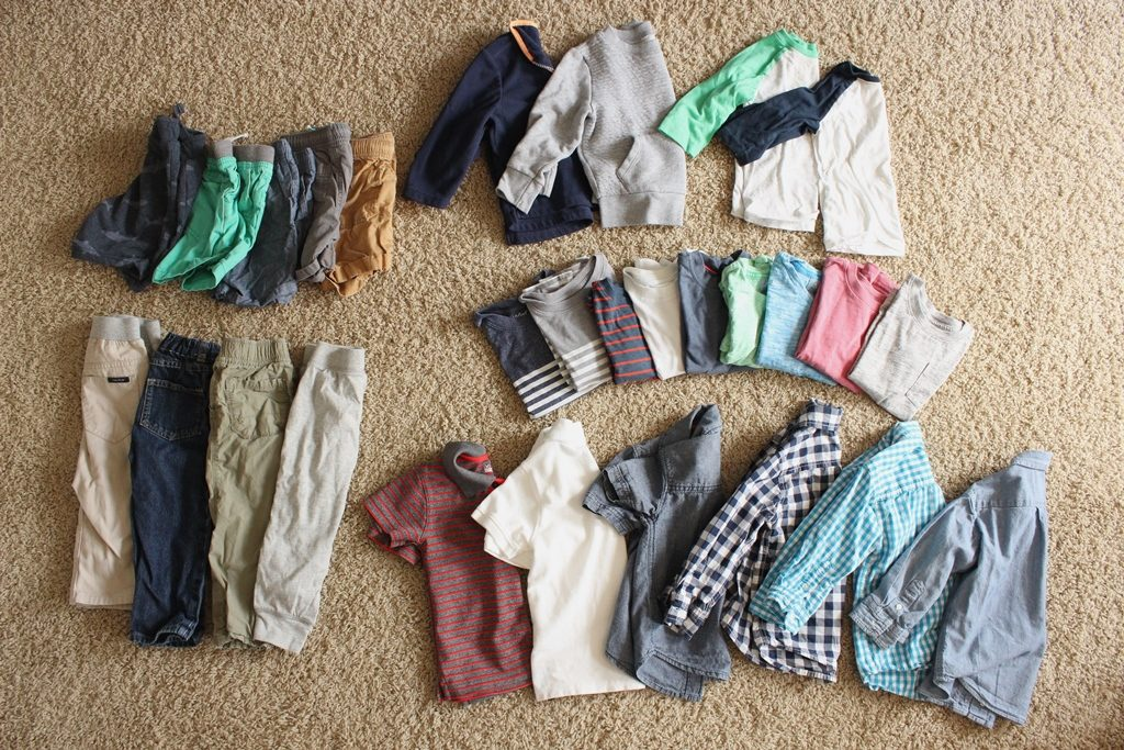 toddler boy capsule wardrobe