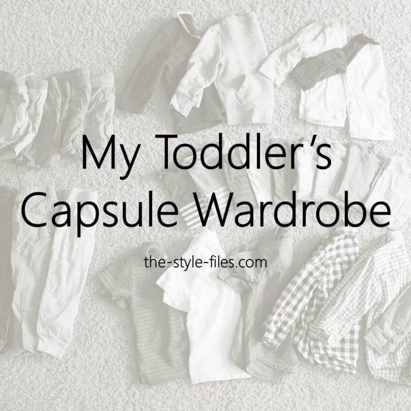my toddlers capsule wardrobe
