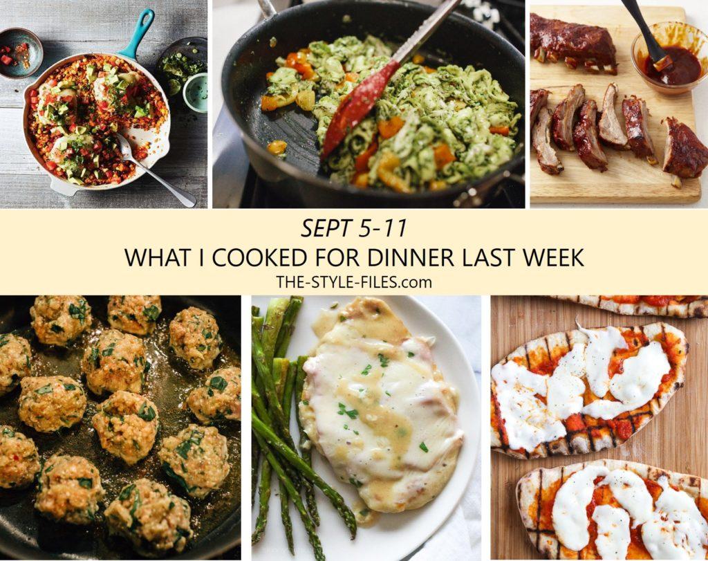 dinner menu weekly dinner plan