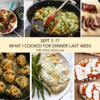 dinner menu weekly dinner plan